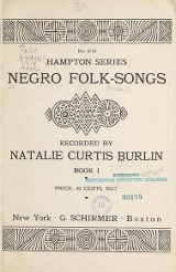 Cover of Negro folk-songs