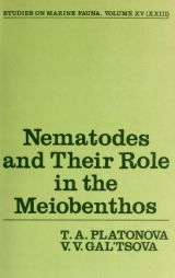 Cover of Nematodes and their role in the meiobenthos