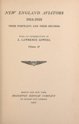 Cover of New England aviators 1914-1918