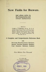 Cover of New fields for brewers and others active in the fermentation and allied industries