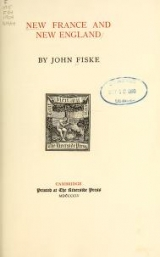 Cover of New France and New England