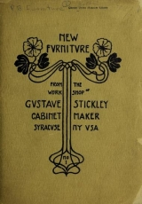 Cover of New fvrnitvre from the work shop of Gvstave Stickley, cabinet maker, Syracvse, NY VSA