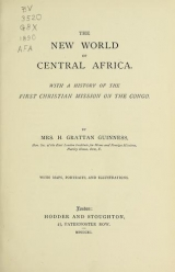 Cover of The new world of Central Africa