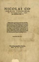Cover of Nicolai Copernici Torinensis De reuolutionibus orbium coelestium, libri VI