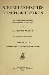 Cover of Niederländisches künstler-lexikon