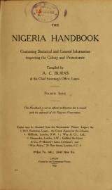 Cover of The Nigeria handbook