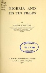 Cover of Nigeria and its tin fields