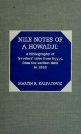Cover of Nile notes of a howadji
