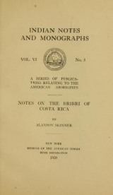 Cover of Notes on the Bribri of Costa Rica