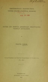 Cover of Notes on North American Crayfishes, family Astacidae