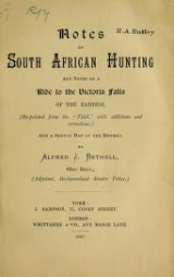 Cover of Notes on South African hunting