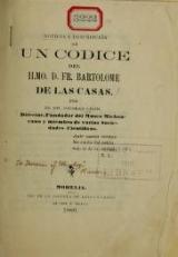 Cover of Noticia y descripción de un codice del Ilmo. D. Fr. Bartolome de las Casas