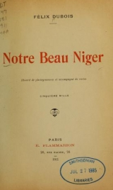 Cover of Notre beau Niger