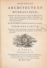 Cover of Nouvelle architecture hydraulique