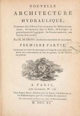 Cover of Nouvelle architecture hydraulique ptie. 1