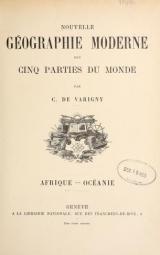 Cover of Nouvelle géographie moderne des cinq parties du monde