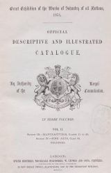 Cover of Official descriptive and illustrated catalogue