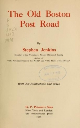 Cover of The old Boston post road