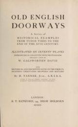 Cover of Old English doorways