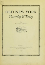 Cover of Old New York yesterday & today