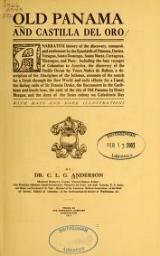 """Cover of """"Old Panama and Castilla del Oro"""""""