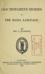 """Cover of """"Old Testament stories in the Haida language"""""""