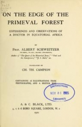 Cover of On the edge of the primeval forest