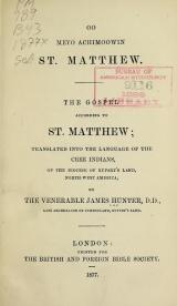 Cover of Oo meyo achimoowin St. Matthew