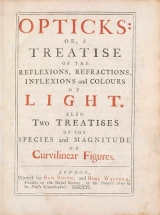 Cover of Opticks: or, A treatise of the reflections, refractions, inflexions and colours of light