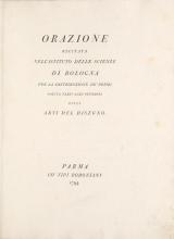 Cover of Orazione recitata nell'Istituto delle scienze di Bologna