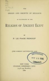 Cover of The origin and growth of religion