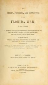 Cover of The origin, progress, and conclusion of the Florida war