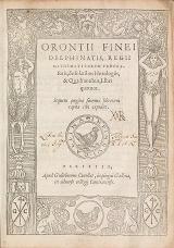 Cover of Orontii Finei Delphinatis, regii mathematicarvm professoris, De solaribus horologiis, & quadrantibus, libri quatuor.