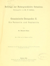 Cover of Ostasiatische decapoden