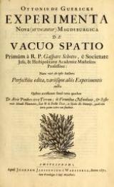 Cover of Ottonis de Guericke Experimenta nova (ut vocantur) Magdeburgica de vacuo spatio