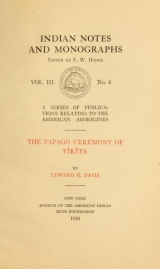 Cover of The Papago ceremony of víkĭta