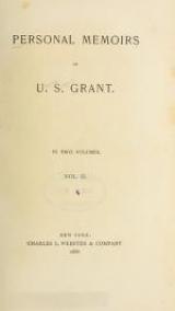 Cover of Personal memoirs of U.S. Grant
