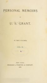 Cover of Personal memoirs of U.S. Grant