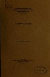 Cover of A Peruvian quipu