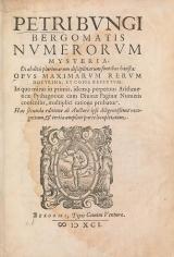 Cover of Petri Bungi Bergomatis Numerorum mysteria