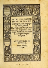 Cover of Petri Peregrini Maricurtensis De magnete, seu, Rota perpetui motus, libellus ...