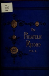 """Cover of """"The Philatelic record"""""""