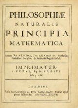 Cover of Philosophiae naturalis principia mathematica