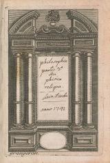 Cover of Philosophiae partis [terti]ae seu phisicae reliqua