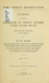 Cover of Pima Indian Reservation