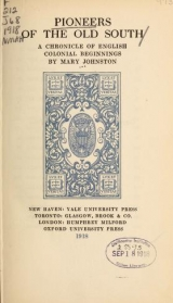 Cover of Pioneers of the old South