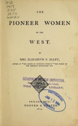 Cover of The pioneer women of the West