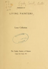 Cover of Portraits by living painters