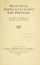 Cover of Practical apprenticeship for printers