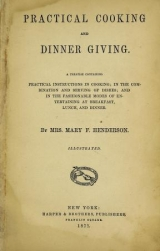 Cover of Practical cooking and dinner giving